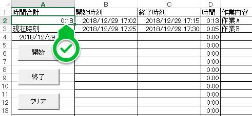 作業時間合計 [2]