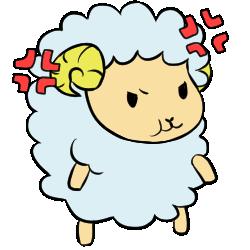 羊表情_怒効果あり